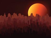 Nocy miasta sylwetka Fotografia Stock