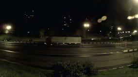 Nocy miasta tematu materiał filmowy zdjęcie wideo