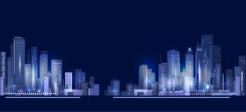 Nocy miasta tło Fotografia Stock