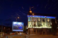 Nocy miasta ulica obraz royalty free