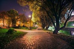 Nocy miasta ulica Zdjęcie Royalty Free