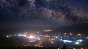 Nocy miasteczka timelapse
