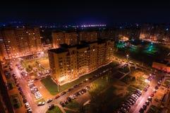 Nocy miasteczko Zdjęcie Stock