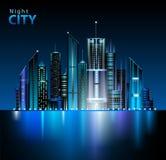 Nocy miasto ilustracji