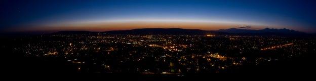 Nocy miasto Fotografia Royalty Free