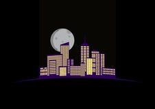 Nocy miasto Obrazy Royalty Free