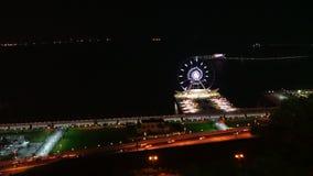Nocy miasto Baku w ruchu zbiory