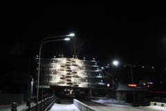 Nocy miasto Barnaul Zdjęcia Stock