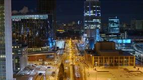 Nocy miasto, budynki z o?wietleniem zbiory