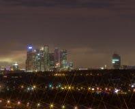 Nocy miasto noc Moskwa Zdjęcia Royalty Free
