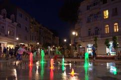 Nocy miastowa uliczna zabawa Zdjęcie Royalty Free
