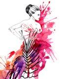 Nocy moda royalty ilustracja