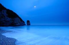 Nocy morze Zdjęcie Royalty Free