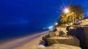 Nocy morze Obrazy Stock