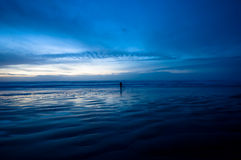 nocy na plaży, Obrazy Stock