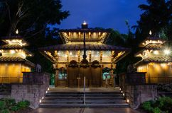 Nocy pagoda Brisbane zdjęcia royalty free