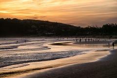 Nocy plaża zdjęcia stock