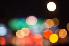 Nocy plamy kolorowy bokeh Obraz Stock