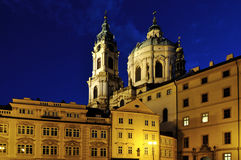 Nocy Prague scena Fotografia Royalty Free