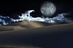 Nocy pustynia Zdjęcia Royalty Free