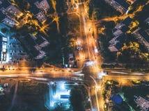 Nocy rozdroże od wysokości obrazy royalty free