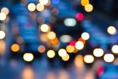 Nocy ruch drogowy Zdjęcie Stock