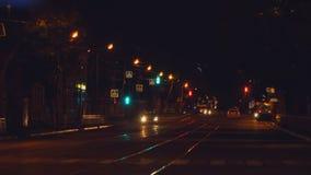 Nocy ruch drogowy w mieście zbiory