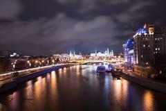 Nocy rzeka Zdjęcie Royalty Free