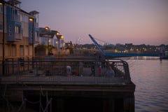 Nocy rzeka Obrazy Royalty Free