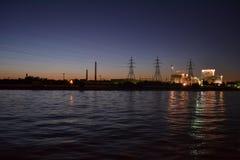 Nocy rzeka Obrazy Stock
