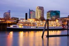 nocy Sacramento linia horyzontu zdjęcie royalty free