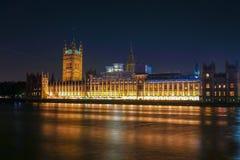 Nocy scena Big Ben i dom parlament w Londyn Obrazy Stock