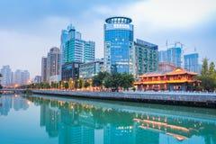 Nocy scena Chengdu obraz royalty free