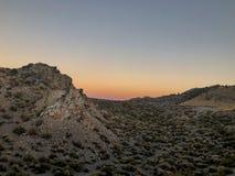 Nocy scena przy Panum kraterem zdjęcia stock