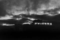 Nocy scena przy Quilotoa parkiem, Latacunga, Ekwador Zdjęcia Royalty Free