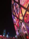 Nocy scena ptaka gniazdeczko w Pekin podczas IAAF Światowych mistrzostw 2015 Obraz Royalty Free
