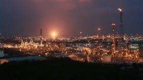 Nocy scena rafinerii fabryka zbiory