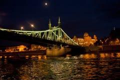Nocy scena w Budapest, Węgry Zdjęcia Royalty Free