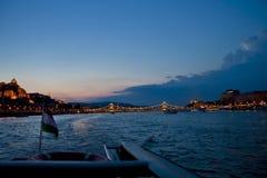 Nocy scena w Budapest, Węgry Fotografia Royalty Free