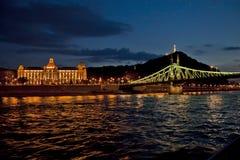 Nocy scena w Budapest, Węgry Zdjęcia Stock