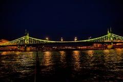 Nocy scena w Budapest, Węgry Zdjęcie Stock