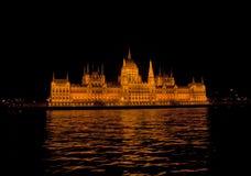 Nocy scena w Budapest, Węgry Obrazy Royalty Free