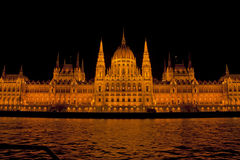 Nocy scena w Budapest, Węgry Obraz Stock