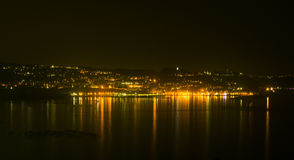 Nocy scena w Pozzouli Obrazy Royalty Free