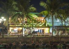 Nocy scena w rzece obrazy stock