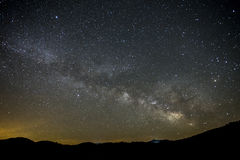 Nocy sceneria Milky sposób Obraz Stock