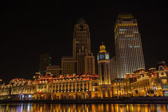 Nocy sceny pejzaż miejski JInwan plac, popularny nocy sceny landm Obraz Stock