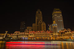 Nocy sceny pejzaż miejski JInwan plac, popularny nocy sceny landm Fotografia Royalty Free