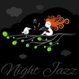 Nocy sztuki jazzowy wektorowy plakat Fotografia Royalty Free