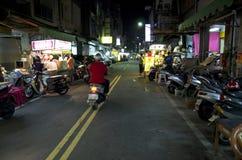 Nocy targowa ulica Kaohsiung Tajwan Zdjęcie Stock